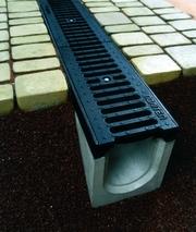 Системи водовідведення,  водостоки,  бетонні желоби
