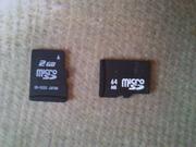 Недорогие флеш карты для телефона Микро СД Micro SD на 2 гб и 64 мб