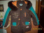 куртка зимняя для мальчика рост-122.новая.с мехом.