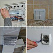 Електромонтаж (електропроводка в будинку,  прокладка кабелю)
