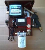 Мини заправка для перекачки дизтоплива с насосом 35л/мин на 220 Вольт