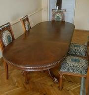 Продається стіл розкладний дубовий  та 6 стільців