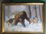 травля медведя